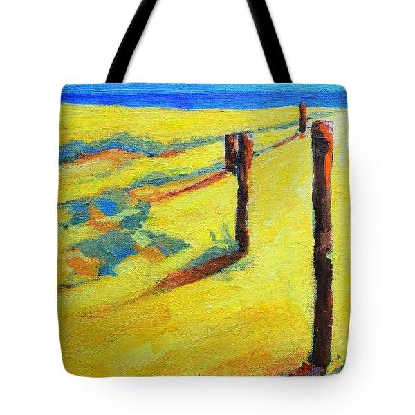 Morning Sun At The Beach Tote Bag by Patricia Awapara