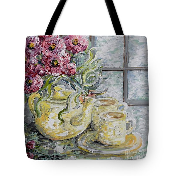 Morning Tea For Two Tote Bag by Eloise Schneider