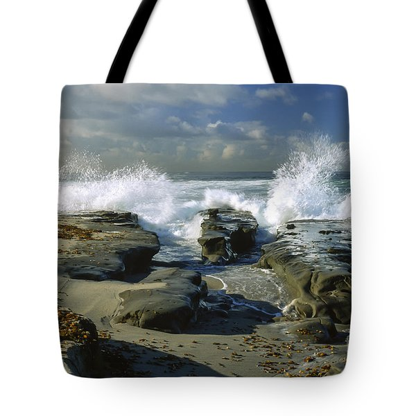 Morning Tide in La Jolla Tote Bag by Sandra Bronstein