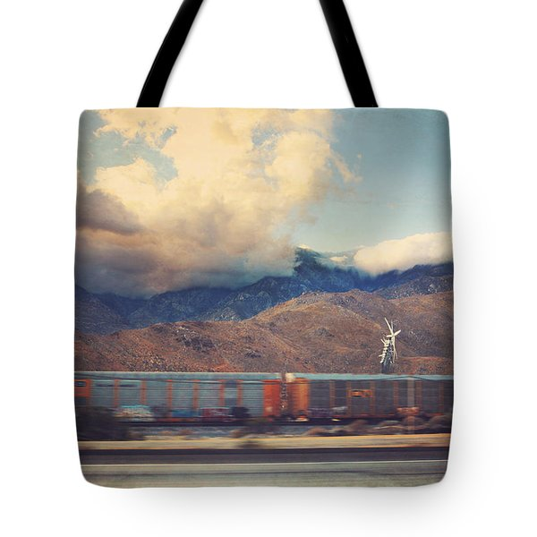 Morning Train Tote Bag by Laurie Search