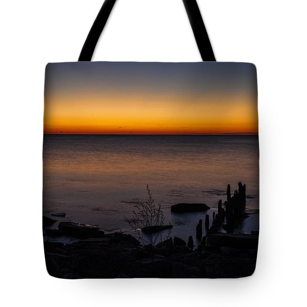 Morning Water Colors Tote Bag by CJ Schmit