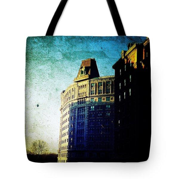 Morningside Heights Blue Tote Bag by Natasha Marco