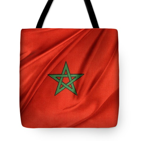 Moroccan Flag Tote Bag by Les Cunliffe