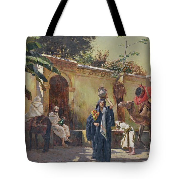 Moroccan Scene Tote Bag by Rudolphe Ernst