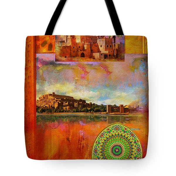 Morocco Heritage Poster Tote Bag by Catf