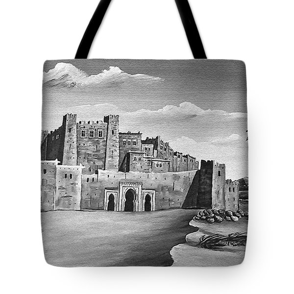 Morocco - Land of contrast Tote Bag by Christine Till