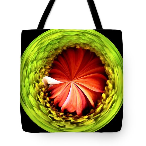Morphed Art Globe 1 Tote Bag by Rhonda Barrett