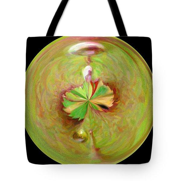 Morphed Art Globe 21 Tote Bag by Rhonda Barrett