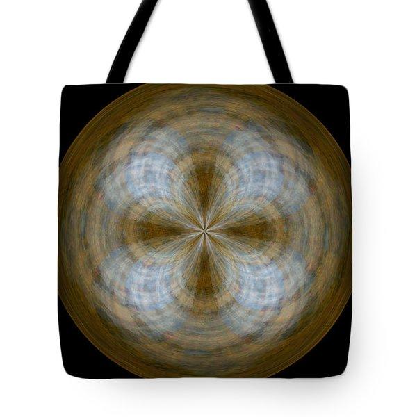 Morphed Art Globe 24 Tote Bag by Rhonda Barrett