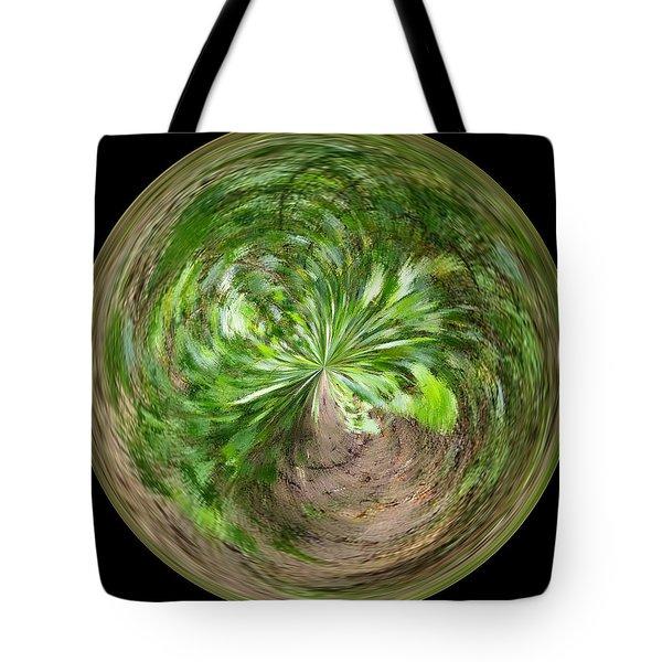 Morphed Art Globe 3 Tote Bag by Rhonda Barrett