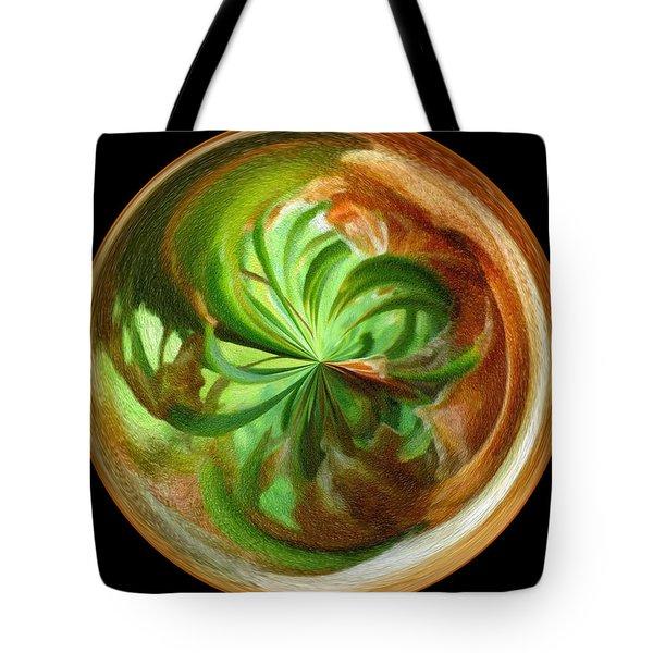 Morphed Art Globes 16 Tote Bag by Rhonda Barrett