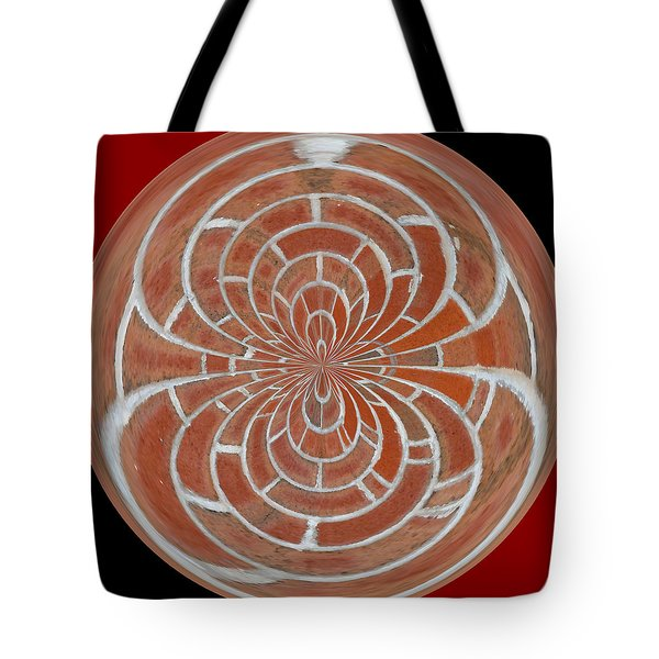 Morphed Art Globes 17 Tote Bag by Rhonda Barrett