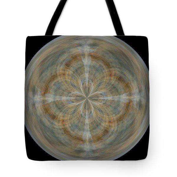 Morphed Art Globes 25 Tote Bag by Rhonda Barrett