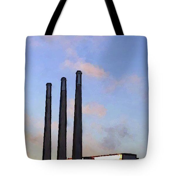 Morro Bay Power Plant Tote Bag by Methune Hively