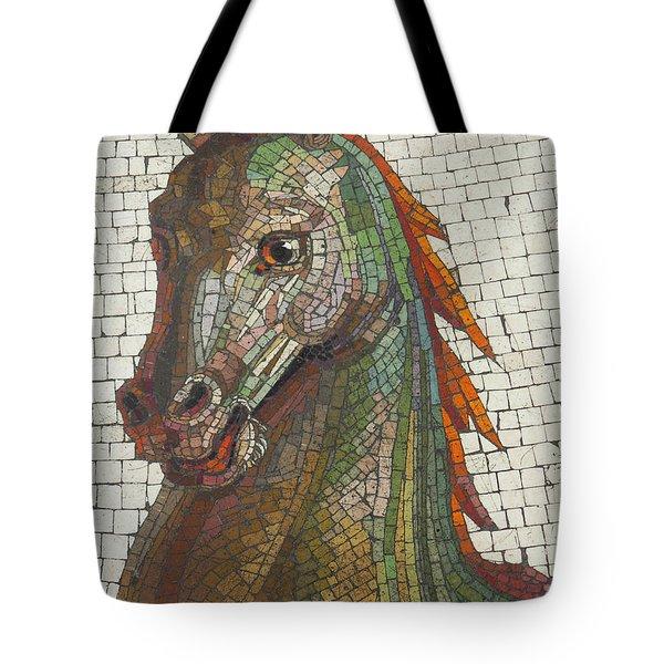 Mosaic Horse Tote Bag by Marcia Socolik