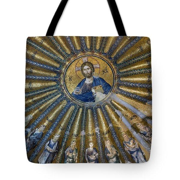 Mosaic Of Christ Pantocrator Tote Bag by Ayhan Altun