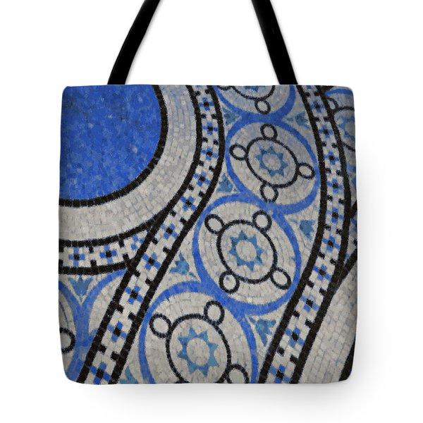 Mosaic Perspective 2 Tote Bag by Tony Rubino