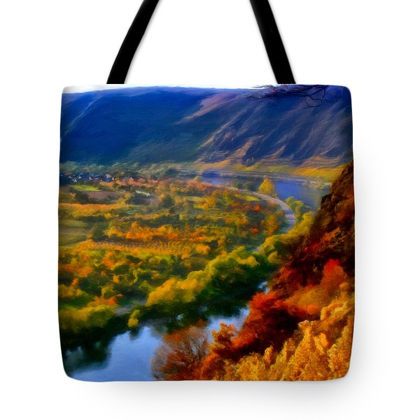 Mosel In The Fall Tote Bag by Michael Pickett