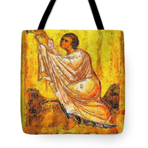 Moses And The 10 Commandments Tote Bag by George Rossidis