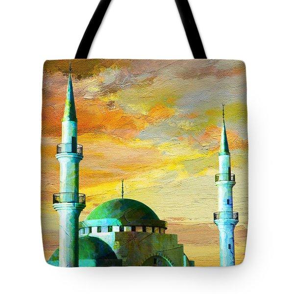 Mosque Jordan Tote Bag by Catf