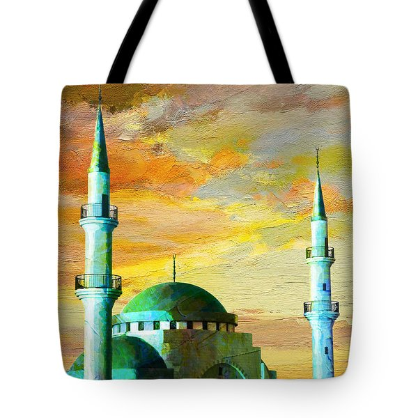 Mosque Jordan Tote Bag by Catf