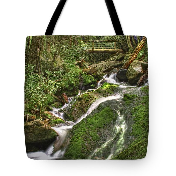 Mossy Creek Tote Bag by Debra and Dave Vanderlaan