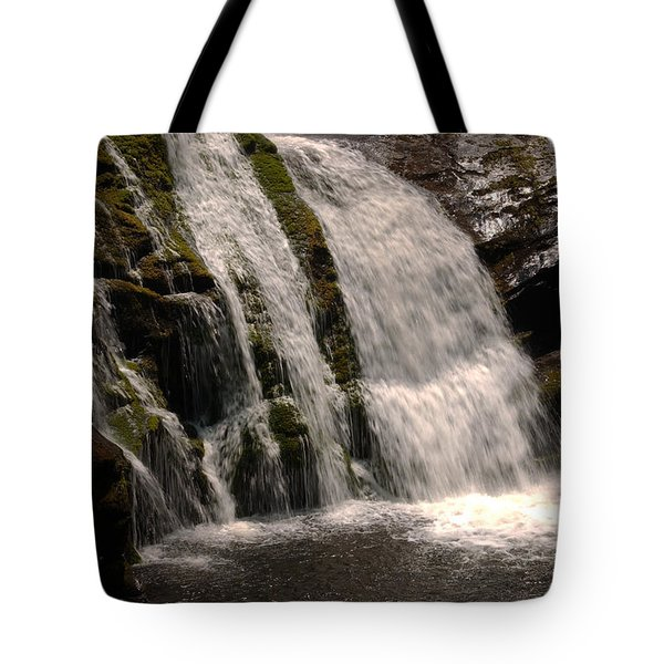 Mossy Drop Tote Bag by Greg and Chrystal Mimbs