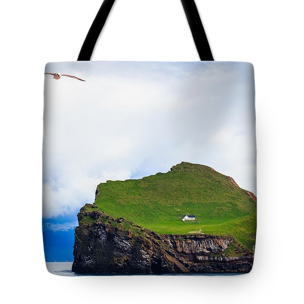 Most Peaceful House In The World Tote Bag by Peta Thames