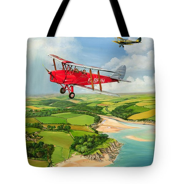 Mothecombe Moths Tote Bag by Richard Wheatland