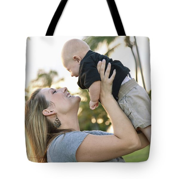 Mother and Baby Tote Bag by Brandon Tabiolo