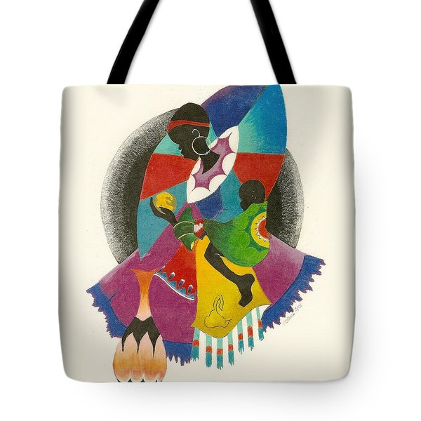 Mother and Child Tote Bag by Natalie Collins