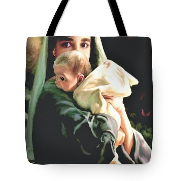 Mother And Child Tote Bag by Ronald Chambers