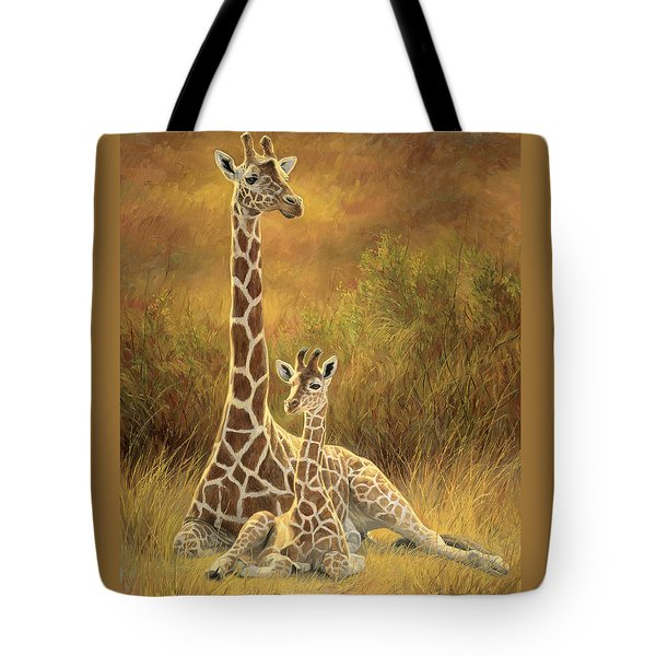 Mother And Son Tote Bag by Lucie Bilodeau