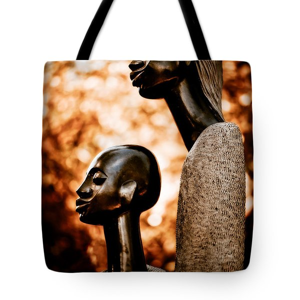 Mother And Son Tote Bag by Venetta Archer