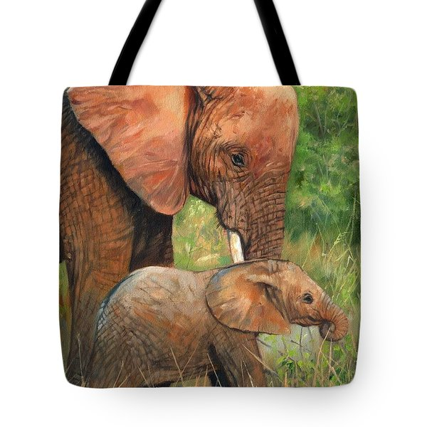Mother Love 2 Tote Bag by David Stribbling
