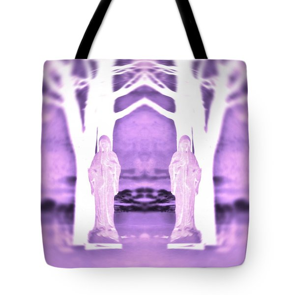 Mother Mary Protect Us Tote Bag by Dan Sproul