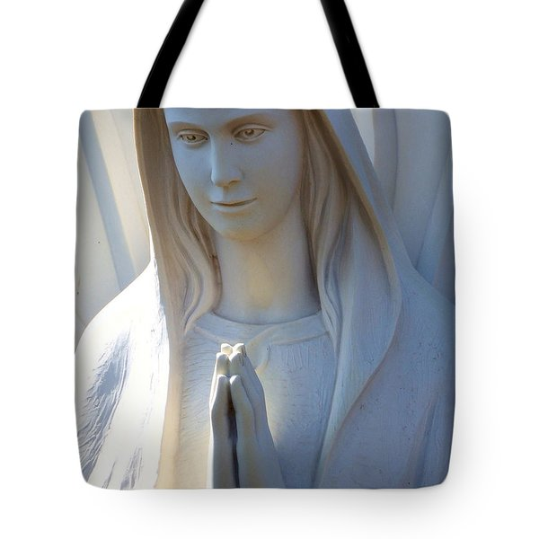 Mother Mary Statue Tote Bag by David G Paul