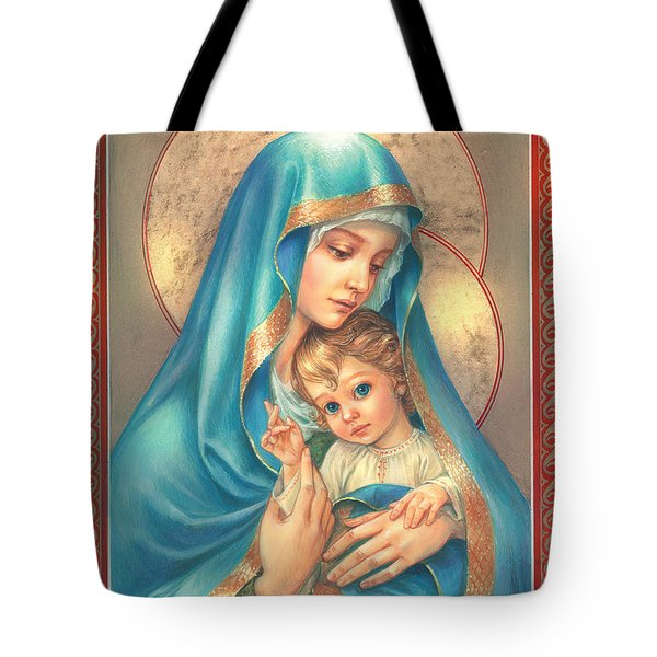 Mother Of God Tote Bag by Zorina Baldescu
