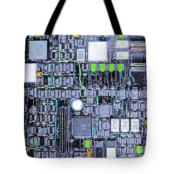 Motherboard Abstract 20130716 P38 Square Tote Bag by Wingsdomain Art and Photography
