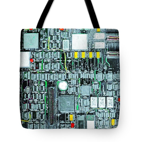 Motherboard Abstract 20130716 square Tote Bag by Wingsdomain Art and Photography