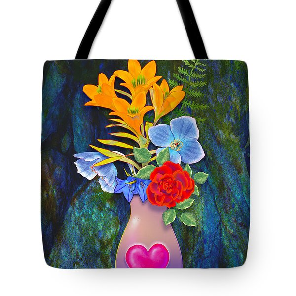 Mothers Day Bouquet Tote Bag by Teresa Ascone