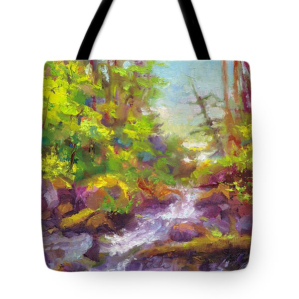 Mother's Day Oasis - Woodland River Tote Bag by Talya Johnson