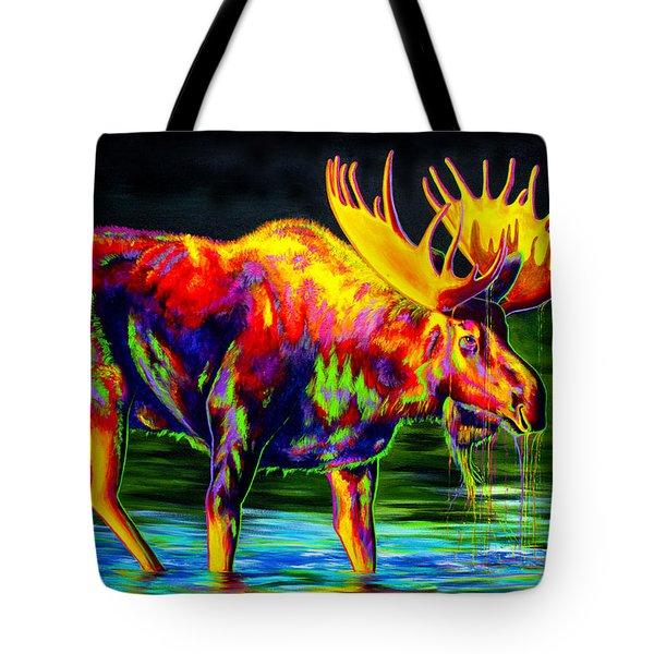 Motley Moose Tote Bag by Teshia Art
