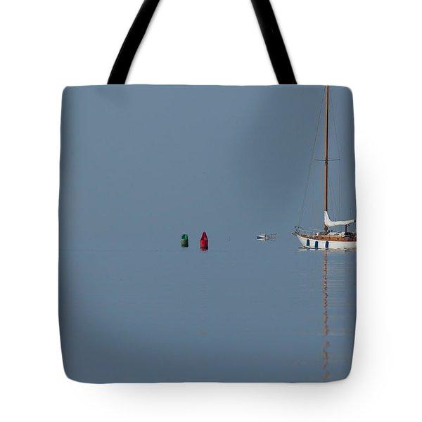Motoring Sail Tote Bag by Karol Livote