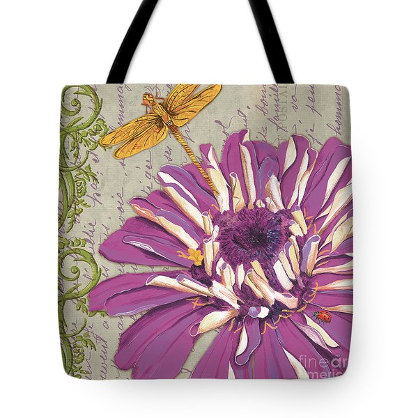 Moulin Floral 2 Tote Bag by Debbie DeWitt