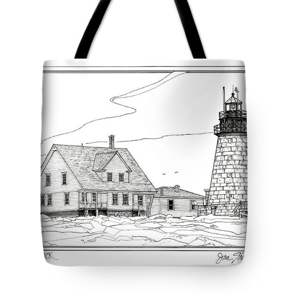 Mount Desert Rock Lighthouse Tote Bag by Ira Shander