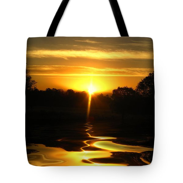 Mount Lassen Sunrise Gold Tote Bag by Joyce Dickens