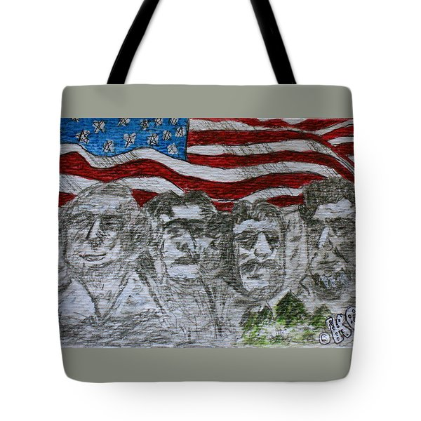 Mount Rushmore Tote Bag by Kathy Marrs Chandler
