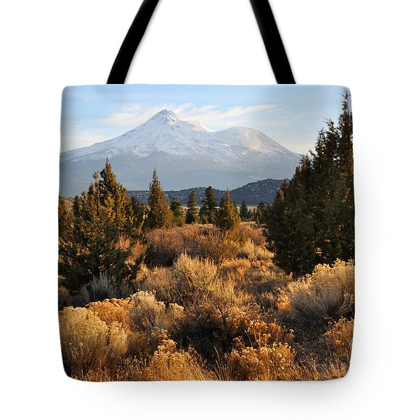 Mount Shasta in the Fall  Tote Bag by Gary Whitton