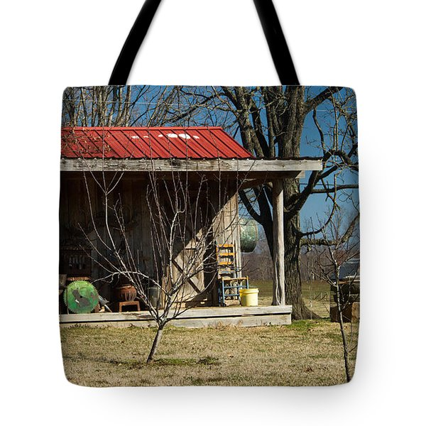 Mountain Cabin in Tennessee 1 Tote Bag by Douglas Barnett